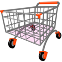 download Shopping Cart clipart image with 135 hue color