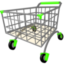 download Shopping Cart clipart image with 225 hue color