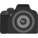 download Slr Camera clipart image with 0 hue color