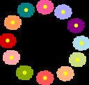 Rainbow Flower Wreath