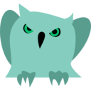download Disappointed Owl clipart image with 135 hue color