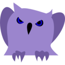 download Disappointed Owl clipart image with 225 hue color