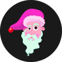 download Santa Head clipart image with 315 hue color