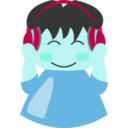 download Boy With Headphone1 clipart image with 135 hue color