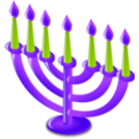 download Hanukkah Icon clipart image with 225 hue color