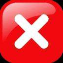 Red Square Error Warning Icon