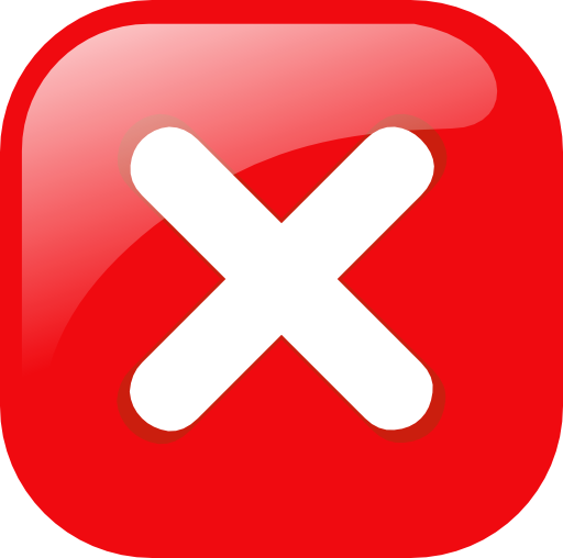 Red Square Error Warning Icon Clipart | i2Clipart ...