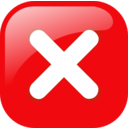 Red Square Error Warning Icon