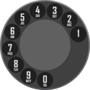 download Rotary Dialer clipart image with 135 hue color