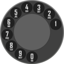 download Rotary Dialer clipart image with 315 hue color