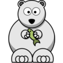 download Cartoon Polar Bear clipart image with 45 hue color