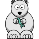 download Cartoon Polar Bear clipart image with 135 hue color