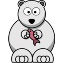 download Cartoon Polar Bear clipart image with 315 hue color