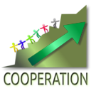 download Cooperation Leads To Success clipart image with 45 hue color