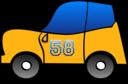 2d Yellow Fun Car