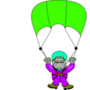 download Skydiverhippo clipart image with 45 hue color