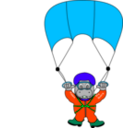 download Skydiverhippo clipart image with 135 hue color