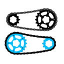 download Bicycle Chain Vector clipart image with 315 hue color