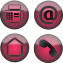 download Four Contact Icons clipart image with 225 hue color
