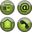 download Four Contact Icons clipart image with 315 hue color