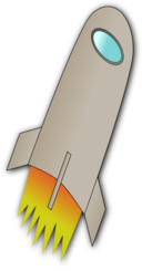 Space Rocket Whit Fire