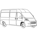 download Van Line Art clipart image with 180 hue color