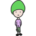 download Quiet Boy clipart image with 45 hue color