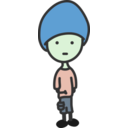 download Quiet Boy clipart image with 135 hue color