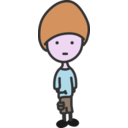 download Quiet Boy clipart image with 315 hue color