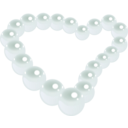 download Pearl Heart clipart image with 135 hue color