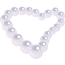 download Pearl Heart clipart image with 225 hue color