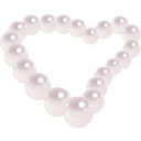 download Pearl Heart clipart image with 315 hue color