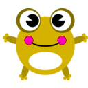 download Frog clipart image with 315 hue color