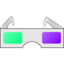 Color Wheel Of 3d Glasses Clipart