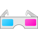 download 3d Glasses clipart image with 315 hue color