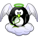 download Penguin In Heaven clipart image with 45 hue color
