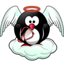 download Penguin In Heaven clipart image with 315 hue color