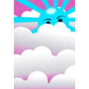 download Clouds With Hidden Sun clipart image with 135 hue color