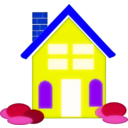 download Home Clipart clipart image with 225 hue color
