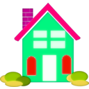 download Home Clipart clipart image with 315 hue color