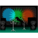 download Stage clipart image with 135 hue color