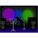 download Stage clipart image with 225 hue color