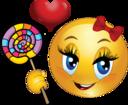 Lollipop Girl Smiley Emoticon