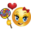 Lollipop Girl Smiley Emoticon