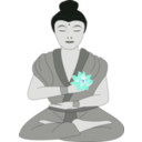 download Buddha clipart image with 225 hue color