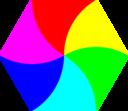 Swirly Hexagon 6 Color