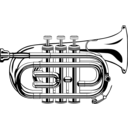 download Pocket Trumpet clipart image with 45 hue color