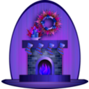 download Christmas Fireplace clipart image with 225 hue color