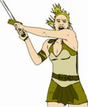 Female Warrior Color