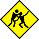 Zombie Warning Road Sign